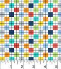 Nursery Cotton Fabric-Bright Check