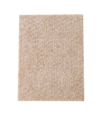 SoftTouch 2 pk 4.5''x6'' DIY Felt Furniture Slider Pad Movers-Oatmeal
