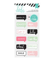 Heidi Swapp Hello Beautiful Chat Bubbles Puffy Stickers, , hi-res