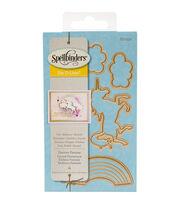 Spellbinders® Die D-Lites 4 Pack Etched Dies-Unicorn Fantasy, , hi-res