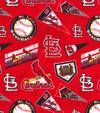 "St. Louis Cardinals Cotton Fabric 58""-Vintage"