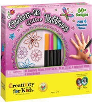 Creativity For Kids Color-In Glitter Tattoos Kit, , hi-res