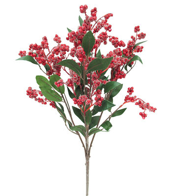 Blooming Holiday Christmas 22'' Iced Berry Spray-Red