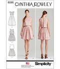 Simplicity Patterns US8086D5 Dresses-4-6-8-10-12