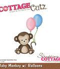 Cottagecutz Die-Baby Monkey With Balloons