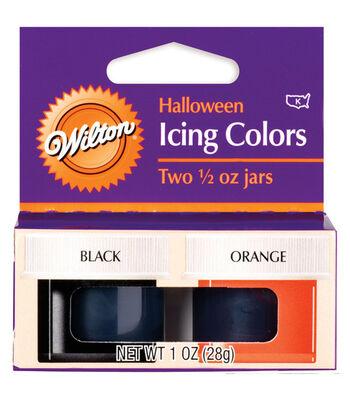 Wilton® 1/2 oz. Halloween Icing Colors-2PK/Black & Orange