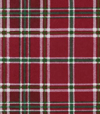"Snuggle Flannel Fabric 42""-Holly Plaid"