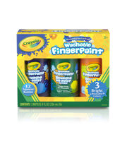 Crayola Washable Finger Paint 8oz 3/Pkg-Secondary Colors, , hi-res