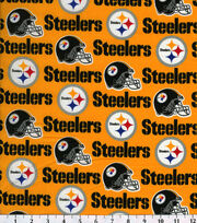 "Pittsburgh Steelers Cotton Fabric 58""-Yellow, , hi-res"