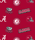 University of Alabama Crimson Tide Cotton Fabric 43\u0022-All over