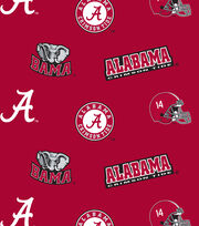 "University of Alabama Crimson Tide Cotton Fabric 43""-All over, , hi-res"