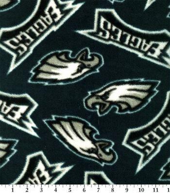 Philadelphia Eagles Fleece Fabric 58''-Tossed