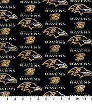 Baltimore Ravens Cotton Fabric 60''-Logo, , hi-res