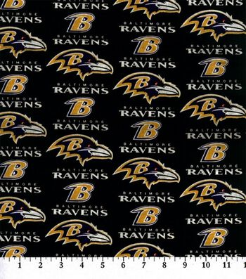 "Baltimore Ravens Cotton Fabric 60""-Logo"