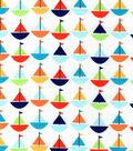 Snuggle Flannel Fabric 42\u0022-Baby Sailboats