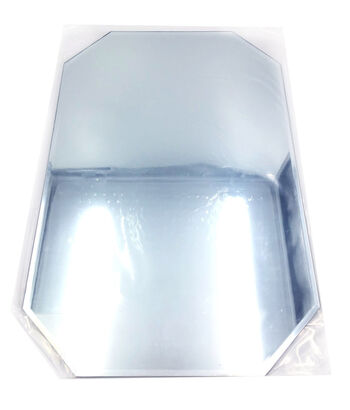 "Octagon Glass Mirror Placemat W/Bevel Edge 12""X18""-Bulk"
