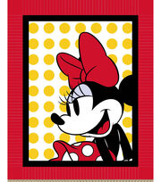 "Disney No Sew Fleece Fabric 48""-Minnie with Dots, , hi-res"