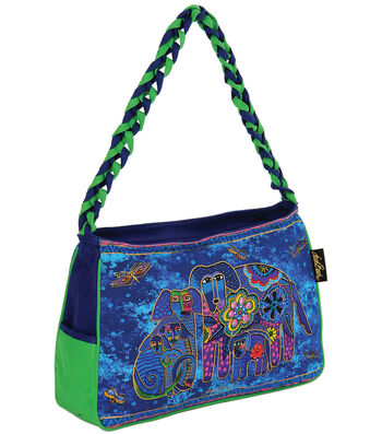 "Laurel Burch Medium Hobo 14.5""x4.5""x10""-Canine Family"