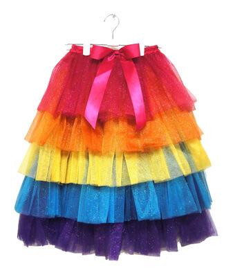 Maker's Halloween Child Long Tutu-Rainbow