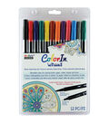 Color In Double-Ended Markers 12/Pkg-Primary