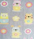Micro Fleece Fabric 59\u0022-Tea Time Friends