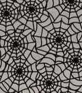 The Witching Hour Halloween Mesh Fabric 58\u0022-Flocked Web