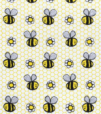 "Snuggle Flannel Fabric 42""-Happy Sketch Bee"
