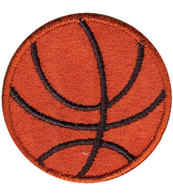 """Wrights® Iron-On Appliques-Basketball 1-1/2"""" 1/Pkg"""