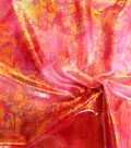 Performance Stretch Fabric-Tie Dye Oil Slick Foil Red Pink