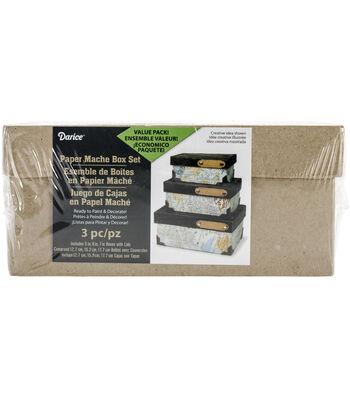 Darice 3 pk Paper Mache Boxes