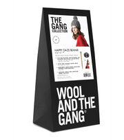 Wool And The Gang Happy Daze Beanie Knit Kit-Tweed Gray, , hi-res