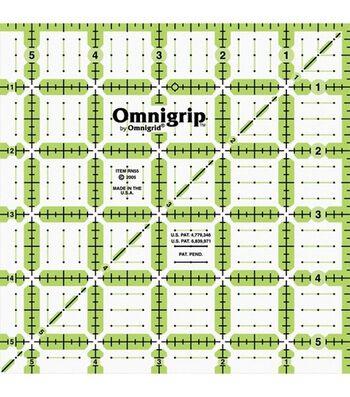 """Omnigrip Non-Slip Quilter's Ruler 5.5"""" x 5.5"""""""