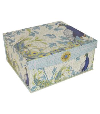Organizing Essentials™ Extra Large Flip Top Box-Peacock Plums
