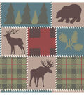 Snuggle Flannel Fabric 42\u0027\u0027-Deer Lodge Patch