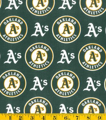 "Oakland Athletics Cotton Fabric 58""-Logo"