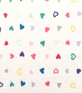 Doodles® Juvenile Apparel Fabric 57''-Tiny Tossed Hearts