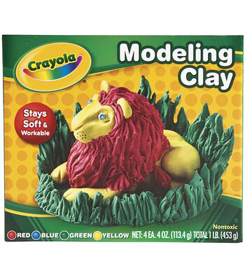 Crayola Modeling Clay 4oz 4/Pkg
