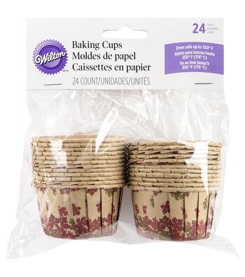 Wilton® Bakeable Nut Cups-Cozy Fall 24/Pkg