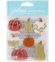 Jolee's Boutique Dimensional Stickers-Metallic Pumpkins, , hi-res