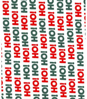 Christmas Cotton Fabric 43''-Ho! Ho! Ho! on White