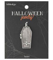 hildie & jo™ Halloween Coffin Locket with Magnet Closure, , hi-res