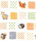 Nursery Cotton Fabric 43\u0022-Woodland Patchwork