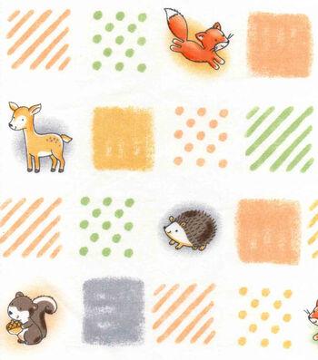"Nursery Cotton Fabric 43""-Woodland Patchwork"