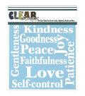 Clear Scraps 6\u0027\u0027x6\u0027\u0027 Plastic Stencil-Fruit of the Spirit