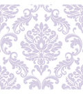 WallPopsNuWallpaper Purple Ariel Damask Peel And Stick Wallpaper