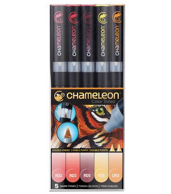 Chameleon 5 pk Color Tone Pens-Warm Tones