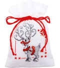 Christmas Elves Bags On Aida Counted Cross Stitch Kit