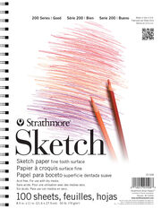 Strathmore® 200 Series 100 Sheets 8.5''x11'' Sketch Pad, , hi-res