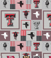 "Texas Tech University Red Raiders Fleece Fabric 58""-Gray Block, , hi-res"