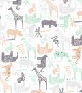 Nursery Cotton Fabric 43\u0027\u0027-Safari Animals Tossed